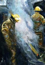 fire fighting paintings
