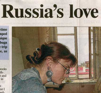 Ross shire journal article russia symposium with vicky stonebridge and Lynn Bennett-Mackenzie