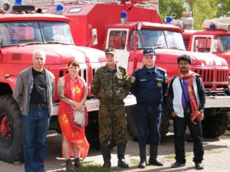 meeting the Yelabuga Firefighters